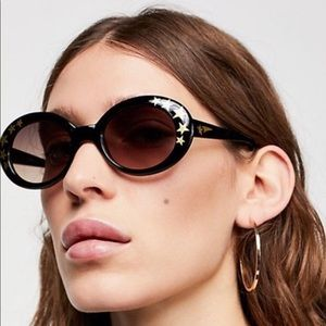 FREE PEOPLE Outta Sight Star Print Sunglasses